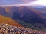 Midway through climbing Ben Nevis, Scotland