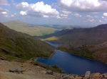View from the top of Snowdon in Wales
